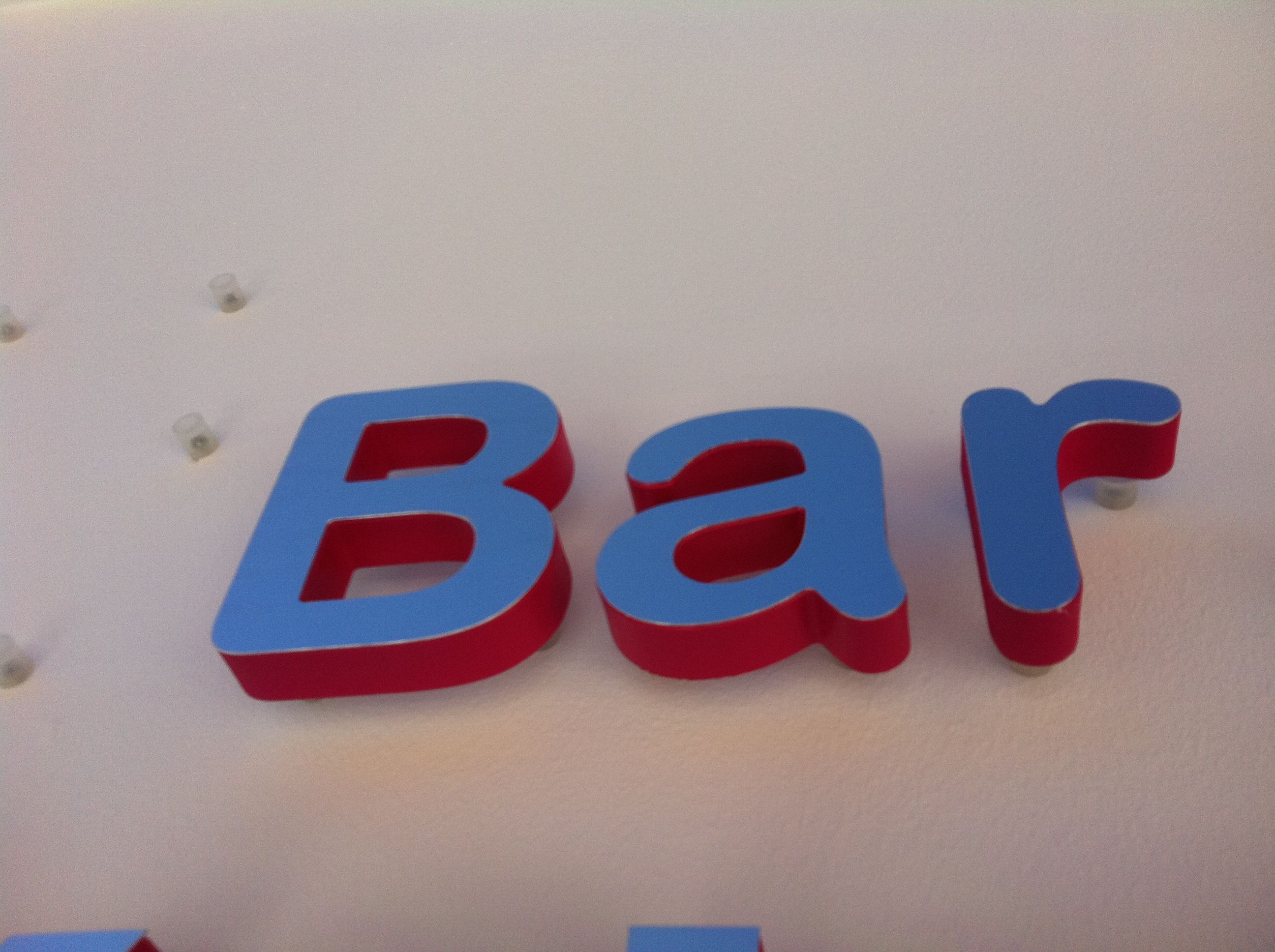 Stainless steel and PVC letters