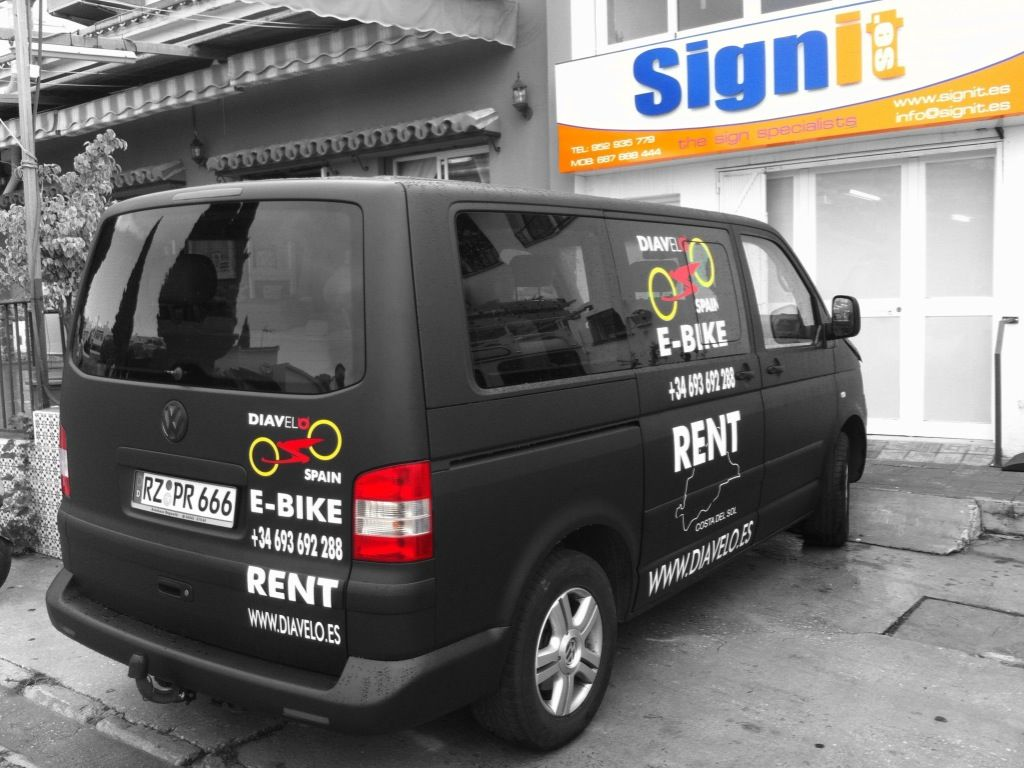 Vinyl graphics and logo